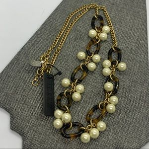 J. Crew Tortoise Shell Pattern Chain Necklace